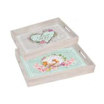 Heart-shaped furniture set of two tray