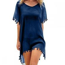 Womens Chiffon Tassel - Bikini Cover up Swimsuit