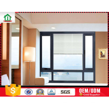 Aluminium internal blinds windows with manual control Aluminium internal blinds windows with manual control