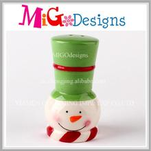 Wholesale Ceramic Snowman Salt and Pepper Shaker Decor