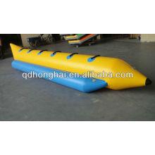 Barco de plátano de goma inflable del PVC para la venta
