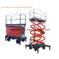 Manual / hidráulico Vertical Cargo Portable Lift Table / Merchandise