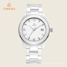 Moda quartzo cerâmico quartzo relógio de pulso 72319