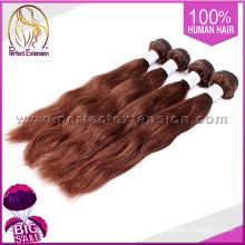 Bulto del pelo europeo trenzado Original Material para extensiones de cabello gris
