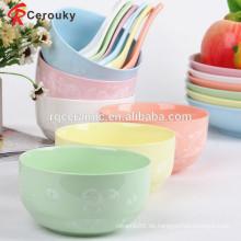 Großhandel Keramik Suppe Schüssel mit Löffel