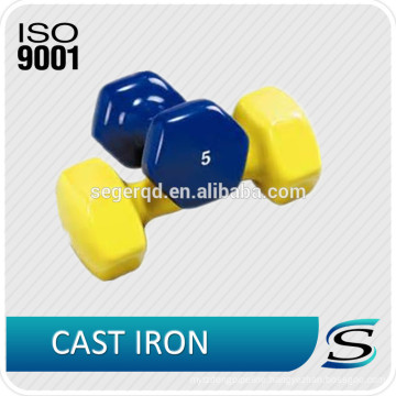 China cast iron hex dumbbells for weight lifting