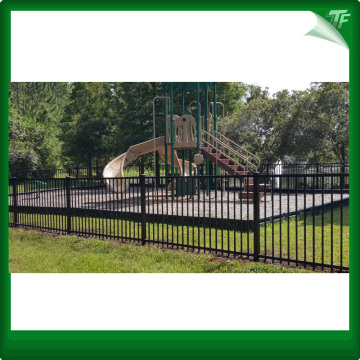 Square PVC coated security garrison fence