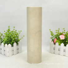 Cylinder Flower Decal Dolomite Vase