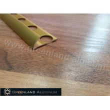 Alumínio Round Floor Revestimento para Cerimic Tile com Anodizado Gold