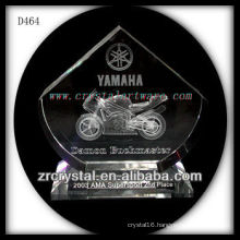 3D Laser Crystal Motorcycle Crystal Award