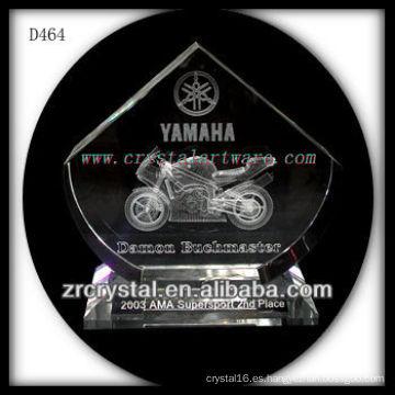 Galardón 3D Laser Crystal Motorcycle Crystal