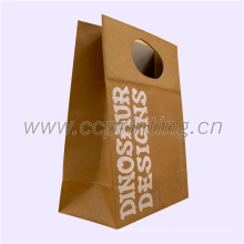 Lebensmittelverpackung Brown Kraftpapiersack mit Papiergriff
