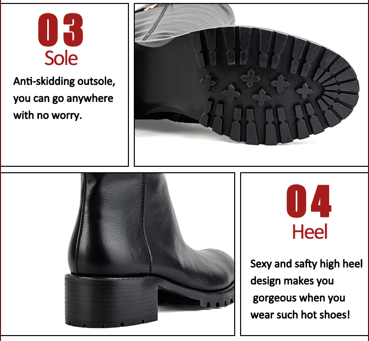 leather black women boots