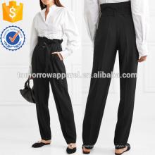 Креп конические брюки Производство Оптовая продажа женской одежды (TA3017P)