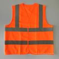 EN20471 & ANSI Сертифицированный оранжевый яркий отражательный защитный жилет