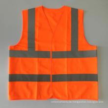 EN20471 & ANSI Zertifizierte orange hohe Sichtbarkeit reflektierende Sicherheitsweste
