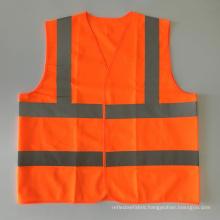 EN20471 & ANSI Certified orange high visibility reflective safety vest