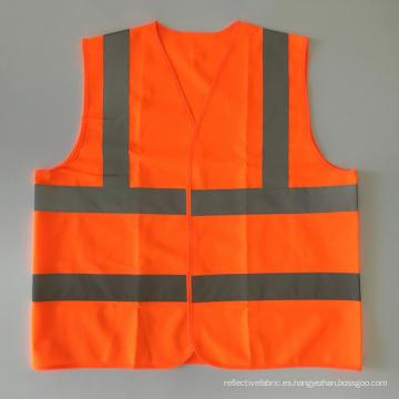 EN20471 & ANSI Certified chaleco de seguridad reflectante de alta visibilidad naranja