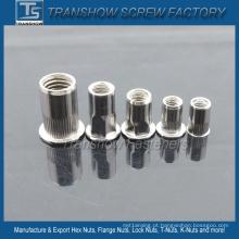 Porcas de rebite de aço inoxidável hex rodada M6-M12