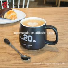 Симпатичный дизайн белый и черный эспрессо кружка