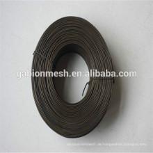 Gute Qualität Kleine Spule Schwarz geglüht Draht Rebar Tie Wire Anping Fabrik