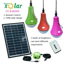 Meistverkaufte fernbedienen führte Mini-Solar-Licht-Kits mit USB-Ladegerät