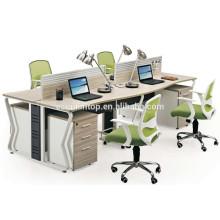 4 Personen Büro Schreibtisch