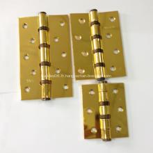 Charnières de porte en fer avec plaques de cuivre