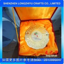 Técnica de colado a medida Medalla Medallón Soporte con caja personalizada