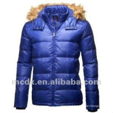 Winter Eco-friendly man clothes with fur hood