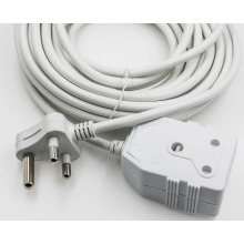 South Africa male power cord plug, high quality low price 250v ac power cord / power extension cord