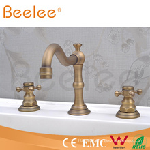 3 PCS Long Neck Brass Bathroom Faucet