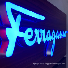 Small  letters illuminated led backlit wall mounted acrylic channel letter advertising light sign