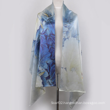 Digital Printed Silk Shawl (13-BR110303-2)