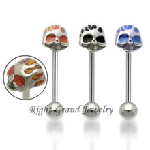 Unique Jewelry Crazy Skull 316L Stainless Steel Fake Tongue Piercing