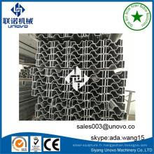 Section sigma en acier pour rayonnages