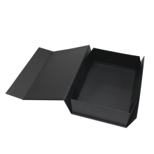 Black Folding Paper Box with Magnet Custom Logo