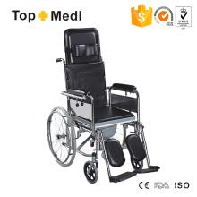 Topmedi Liegestuhl aus Stahl mit hoher Rückenlehne und Kopfstütze