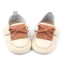 Kleurrijke prachtige handgemaakte lederen mocassins baby schoenen
