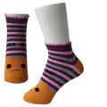 Orange Strips Girl's Socks