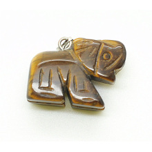 Elephant Shape Yellow Tiger eye pendant