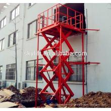 plataforma de elevación de carga eléctrica, elevación de mercancías de almacén, elevador de carga