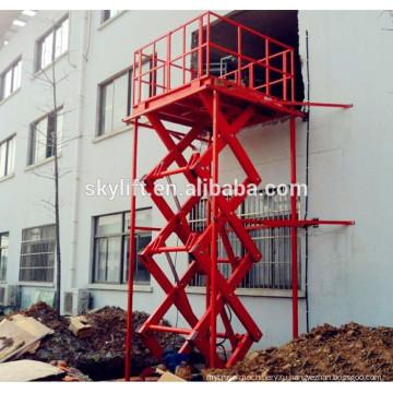 подъемник электрический грузовой, лифт для склада товаров, грузов лифт