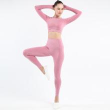 Haut et costume de yoga à manches longues Yoga