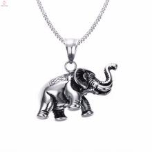 Personnalisé argent couleur éléphant charme pendentif collier bijoux
