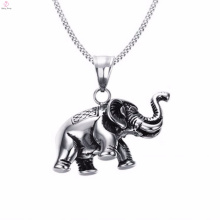 Personalized Silver Color Elephant Charm Pendant Necklace Jewelry