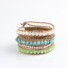 Gets.com 2015 perles de bois de surfeur de cire enroulent des bracelets faits à la main