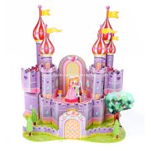 3D lila Schloss Puzzle