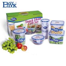 Conjunto de contenedor de almacenamiento de alimentos de picnic de plástico libre de BPA