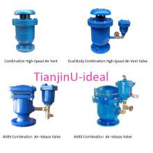 Válvula de ventilação de ar de combinação de corpo duplo de alta velocidade / válvula de ar